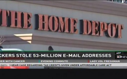 53 Million Email Addresses Stolen from Home Depot