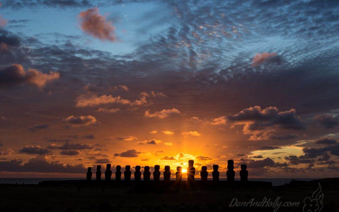 Sunrise and Sunset on Easter Island