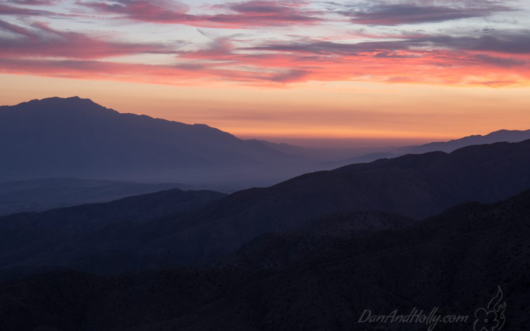 Sunset from Keys View