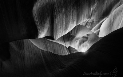 Antelope Canyon in Black and White