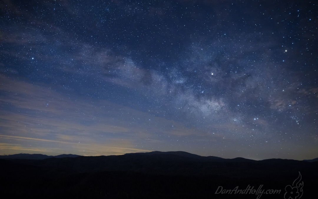 Milky Way over Gregory Bald
