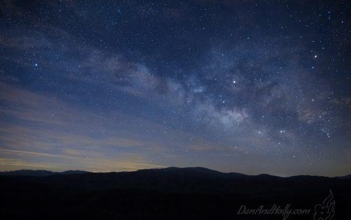 Milky Way over Gregory Bald