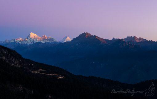 Mount Jomolhari at Sunrise