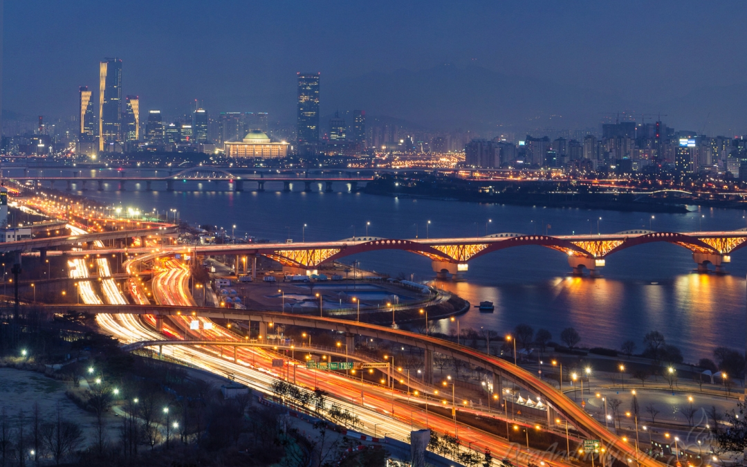 Seoul at Dusk from Haneul Park