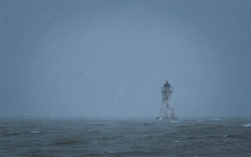 Cockspur Island Lighthouse in a Downpour