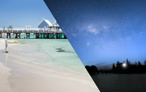 Night and Day at Busselton Jetty