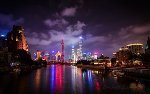 Shanghai from behind the Bund