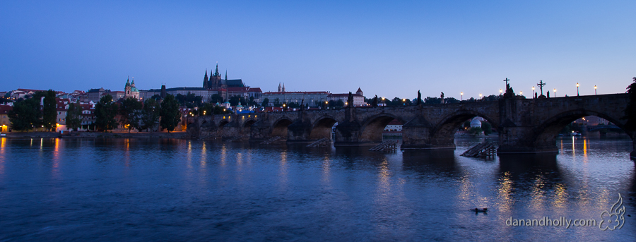 The old town Prague Skyline