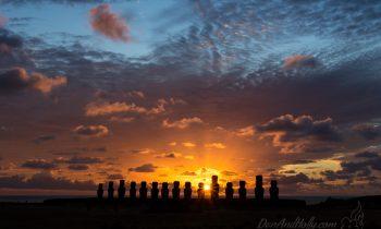 Sunrise and Sunset on Easter Island