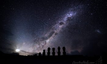 The Milky Way over Moai – Remastered