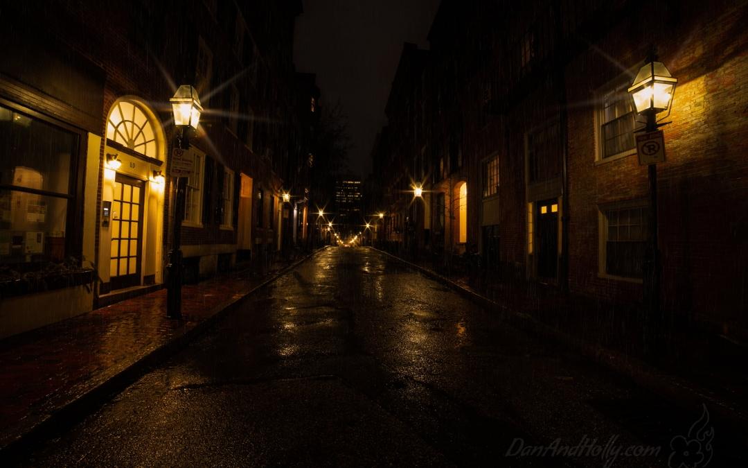 A Rainy Night on Beacon Hill