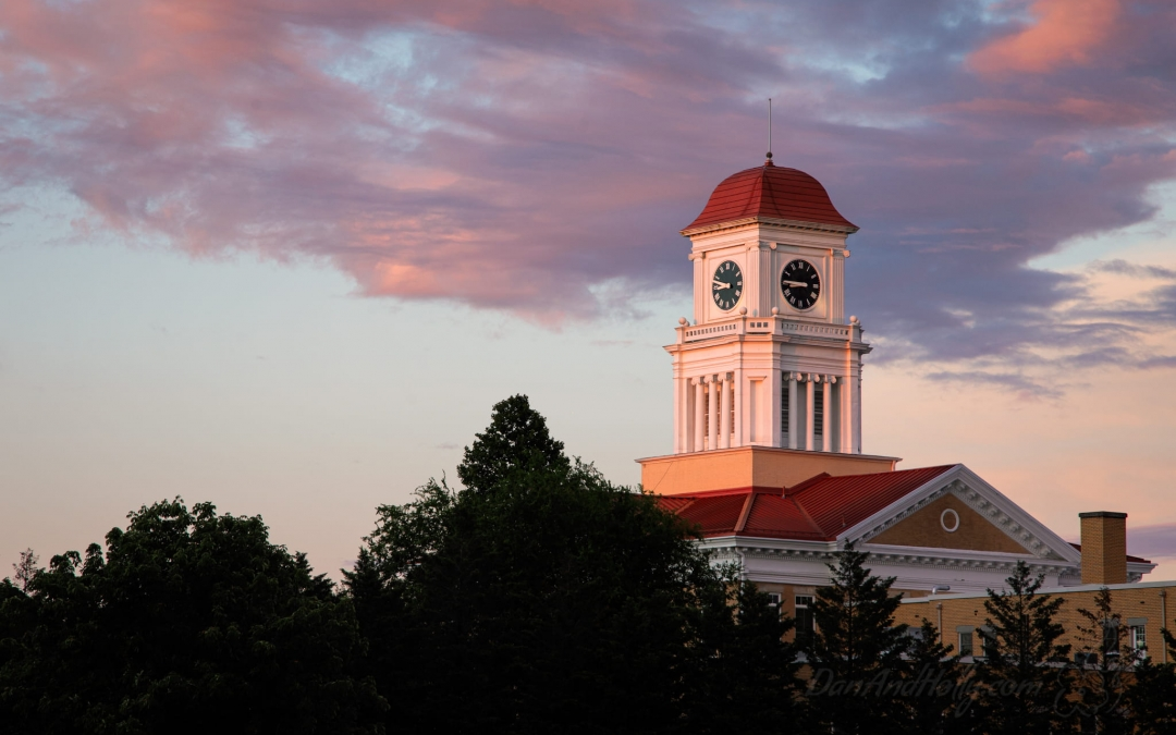 The Blount County Courthouse at Sunset