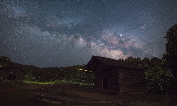 The Milky Way and Fireflies at the Dan Lawson Place