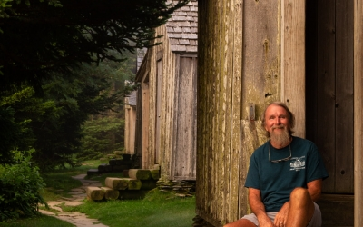 Tim Line at the Mount LeConte Lodge