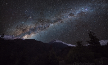 The Milky Way over San Fernando, Chile
