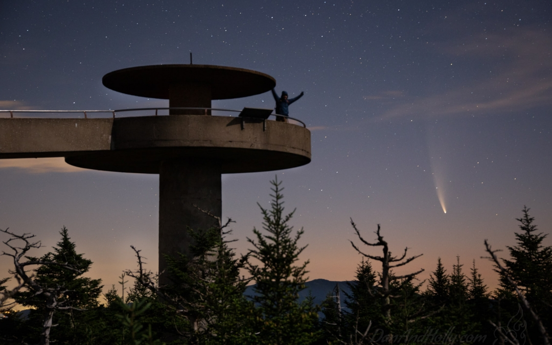 Neowise Comet Above the Smoky Mountains