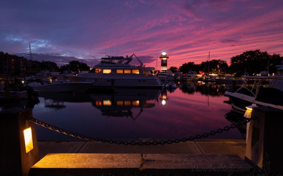 Sunset at the Hilton Head Lighthouse