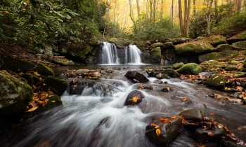 Double Falls in Autumn Glory