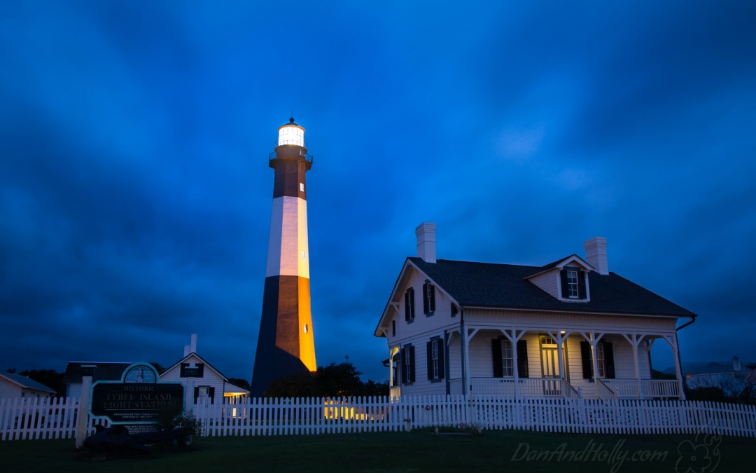 The Tybee Island Lighthouse at Dawn