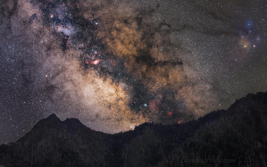 Chimney Tops Under the Milky Way