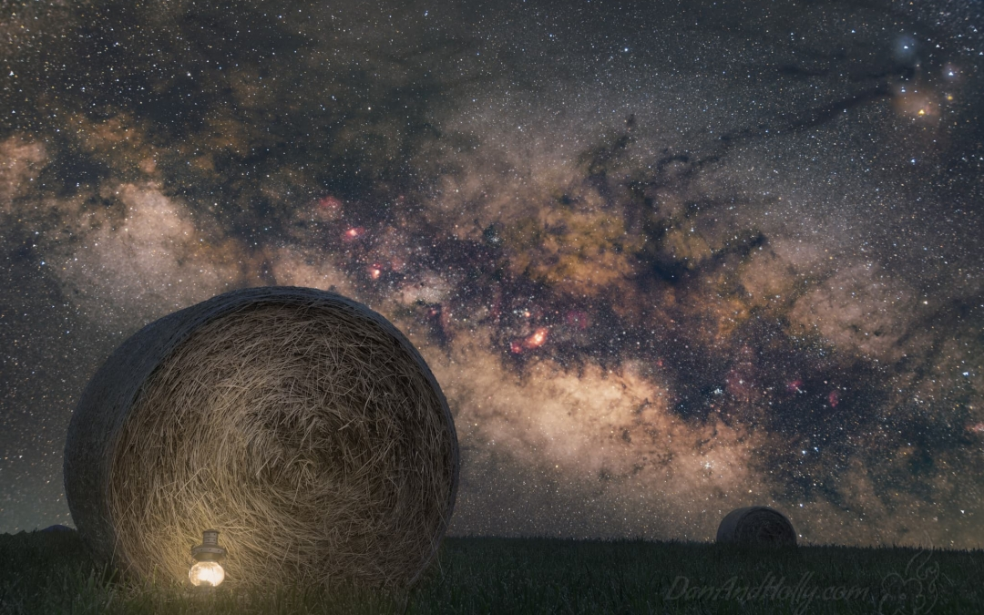 Hay Bales and the Milky Way