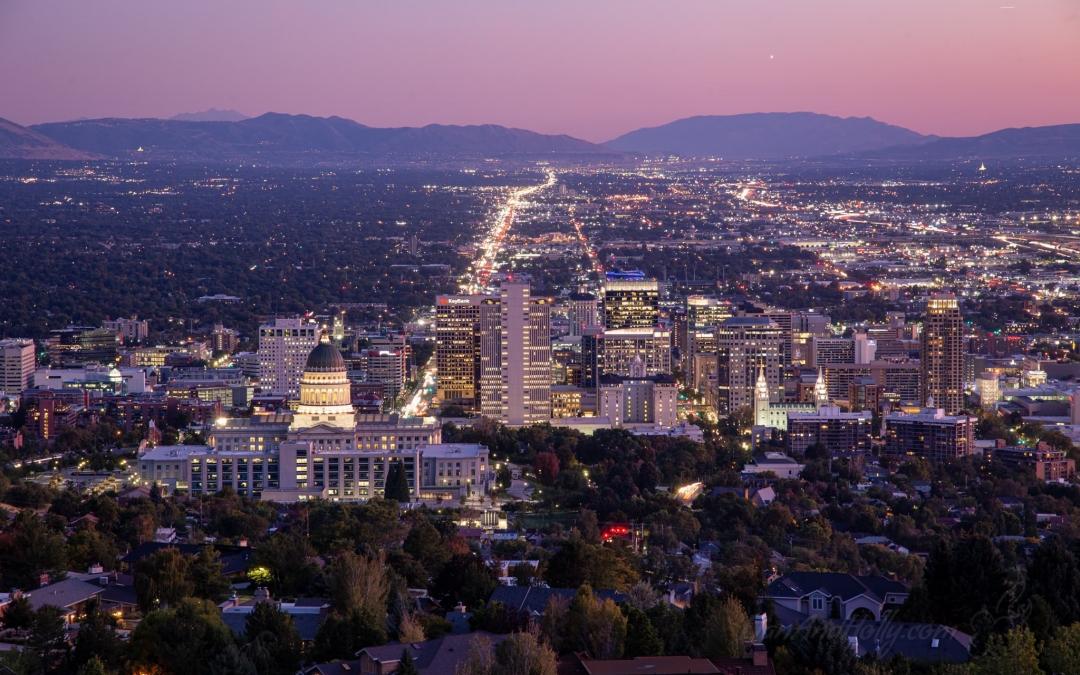 The City Lights of Salt Lake City, Utah